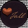 Copper Spice Love Fall Sticker