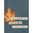 Copper Spice Falling 3x4 Journal Card