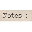Autumn Bramble Notes Word Art