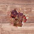 "Autumn Bramble Wood Journal Card 4""x4"""