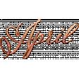 Autumn Bramble Word Art - April