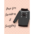 Sweaters & Hot Cocoa Sweaters & Snugging Journal Card 3x4