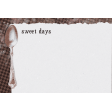 Sweaters & Hot Cocoa Sweet Days Journal Card 4x6