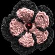 Sweaters & Hot Cocoa Crochet Flower
