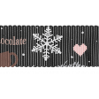Sweaters & Hot Cocoa Gray Ribbon