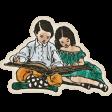 Schoolwork Vintage Children Reading