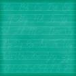 Schoolwork Green Alphabet Chalkboard Paper