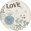 Blue Reflections Love Sticker