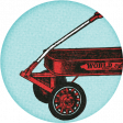 Go Out & Play Wagon Label