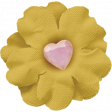 Positively Happy Yellow Flower with Heart