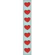 Positively Happy List Strip Hearts