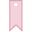 Positively Happy Pink Banner Tag