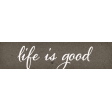 Positively Happy Life is Good Word Art Snippet