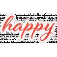 Positively Happy - Happy Word Art