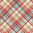 Positively Happy Plaid Paper 1