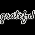 My Tribe Grateful Word Art