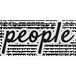 My Tribe People Word Art