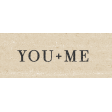 My Tribe You + Me Word Art