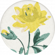 Nesting Yellow Flower Sticker