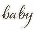 Nesting Baby Word Art