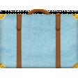 Around The World {In 80 Days} Canvas Suitcase Element