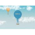 Around The World Balloon 4x6 Journal Card