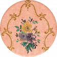 Vintage Memories: Genealogy Floral Sticker