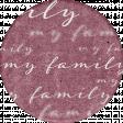 Vintage Memories: Genealogy My Family Sticker