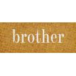 Vintage Memories: Genealogy Brother Word Art Snippet