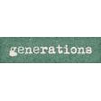 Vintage Memories: Genealogy Generations Word Art Snippet