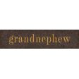 Vintage Memories: Genealogy Grandnephew Word Art Snippet