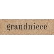 Vintage Memories: Genealogy Grandniece Word Art Snippet