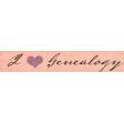Vintage Memories: Genealogy I Love Genealogy Word Art Snippet