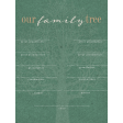 Vintage Memories: Genealogy Family Tree 3x4 Journal Card