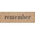 Vintage Memories: Genealogy Remember Word Art Snippet