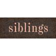 Vintage Memories: Genealogy Siblings Word Art Snippet