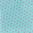 Retro Picnic Cherries Light Blue Paper