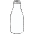 Retro Picnic Milk Bottle 2