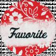 Retro Picnic Favorite Round Sticker