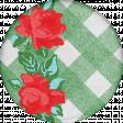 Retro Picnic Rose Round Sticker
