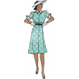 Retro Picnic Vintage Woman Plaid Dress