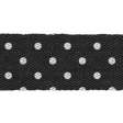 Retro Picnic Black Polka Dots Ribbon