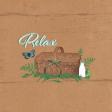 "Retro Picnic Journal Card Relax 4""x 4"""