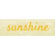 Peach Lemonade Sunshine Word Art Snippet