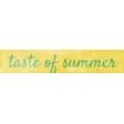 Peach Lemonade Taste of Summer Word Art Snippet