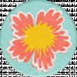 Peach Lemonade Sunny Flower Round Sticker