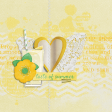 Peach Lemonade Glass Journal Card 4x4