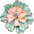 Cherish Teal & Peach Flower