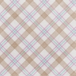 Cherish Tan Plaid Paper