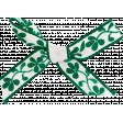 Tea in the Garden Green & White Bow